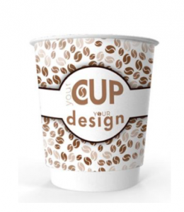 Takeaway printed coffee cup for vending machines