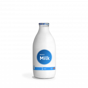 milk_2pint glass bottle