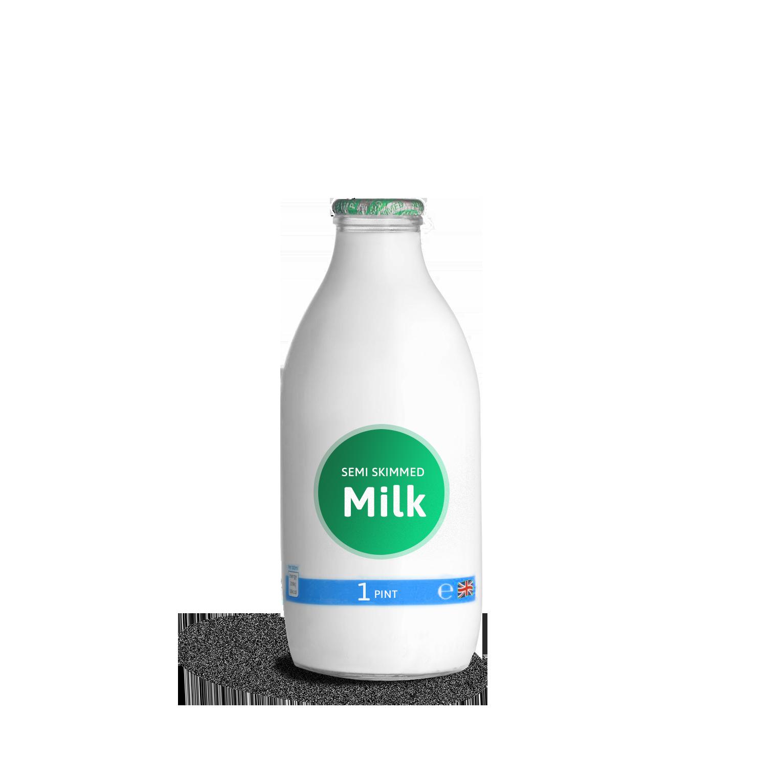 semi-milk_2pint glass bottle