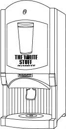 milk dispenser line drawing