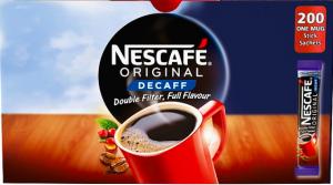 Nescafé Original Decaffeinated Instant Coffee Sachets 200 x 1.8g