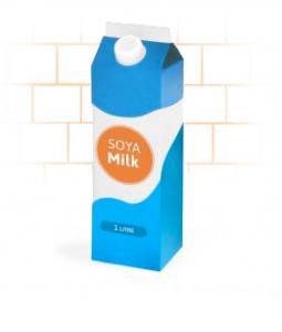 Soya milk carton delivery