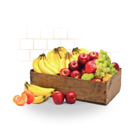 office fruit basket with tile background
