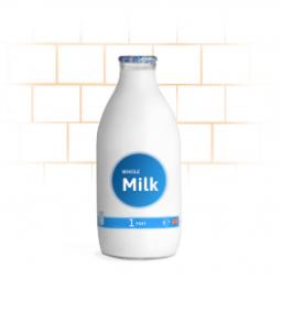 glass milk bottle office whole