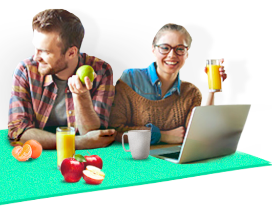 people eating fruit