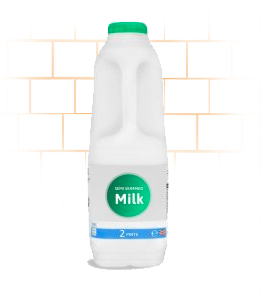Office Milk Delivery 2 Ltrs Semi Skimmed
