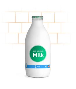 semi skimmed milk tile background